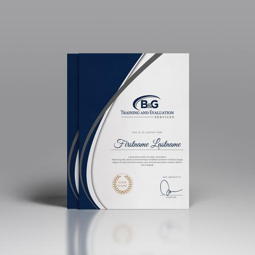 B&G Certificate Design