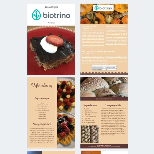 Recipe flyers
