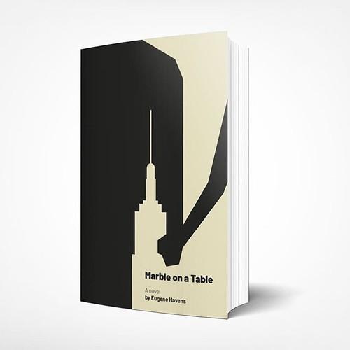 Minimal negative space book cover.