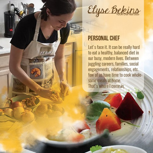 Personal Chef flyer