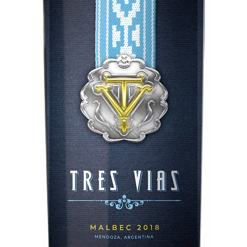 Argentina Inspired Wine Label