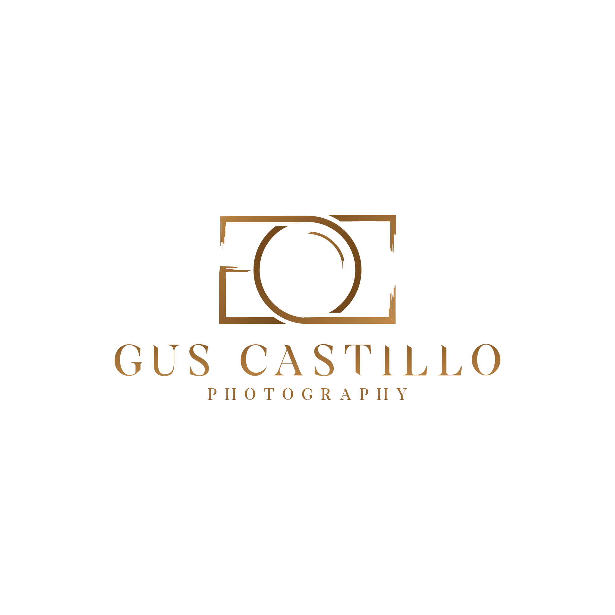 Gus Castillo Photography Logo - Portrait Photographer - leather, wood and musk feeling