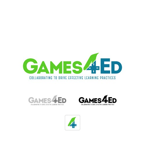 Icon Based Game/Education Logo