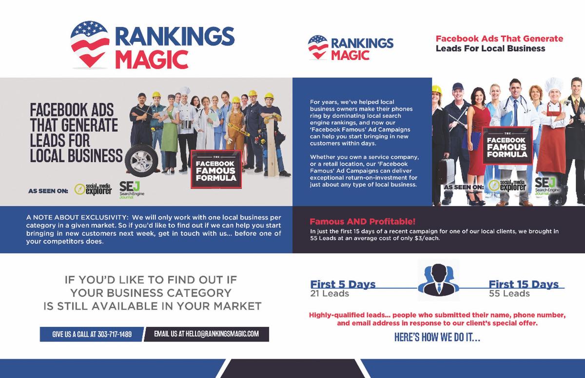 Famous Local Business Brochure Design