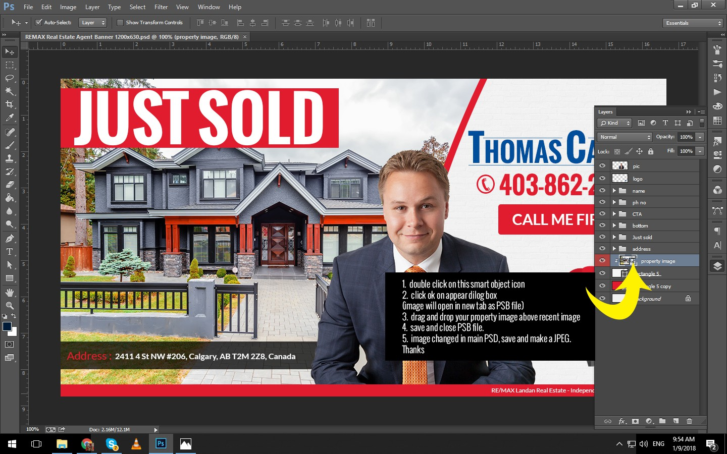 Banner Ad for RE/MAX Real Estate Agent