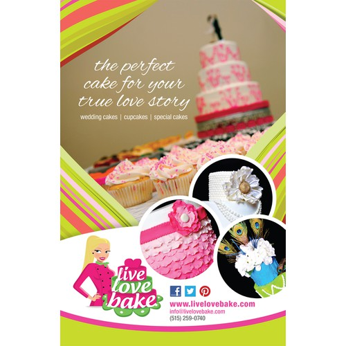 Advertisement for a cake shop