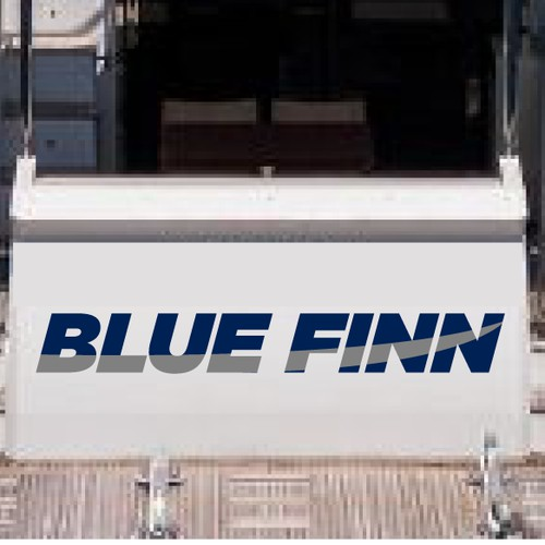 Bold text logo for boat