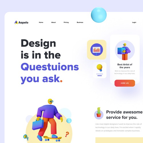 Aapelo Design studio concept website