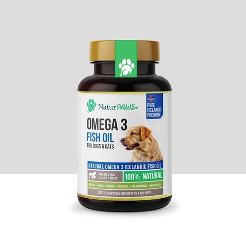 Natur PAWS Omega 3 Fish Oil