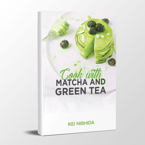 Matcha, Green Tea Cook Book Cover Design