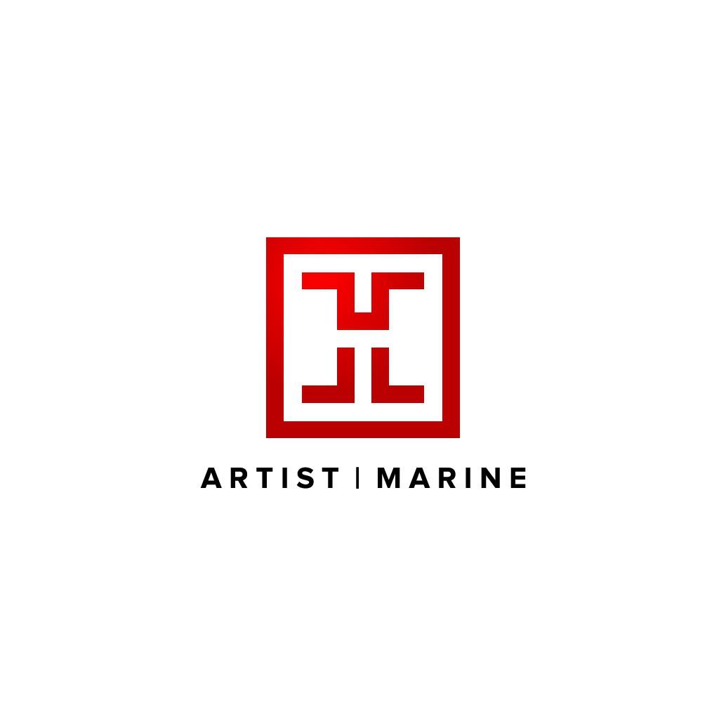 design a modern/sleek website for fine artist