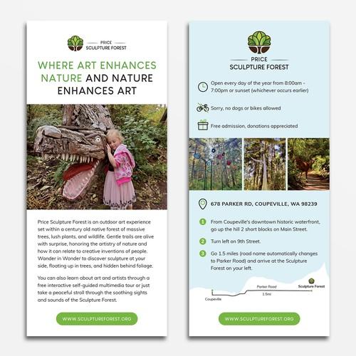 Sculpture Park Rack Card Design