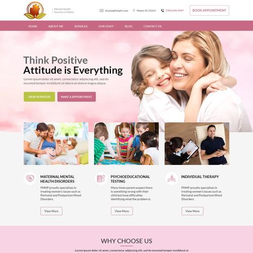 Child Care website design template