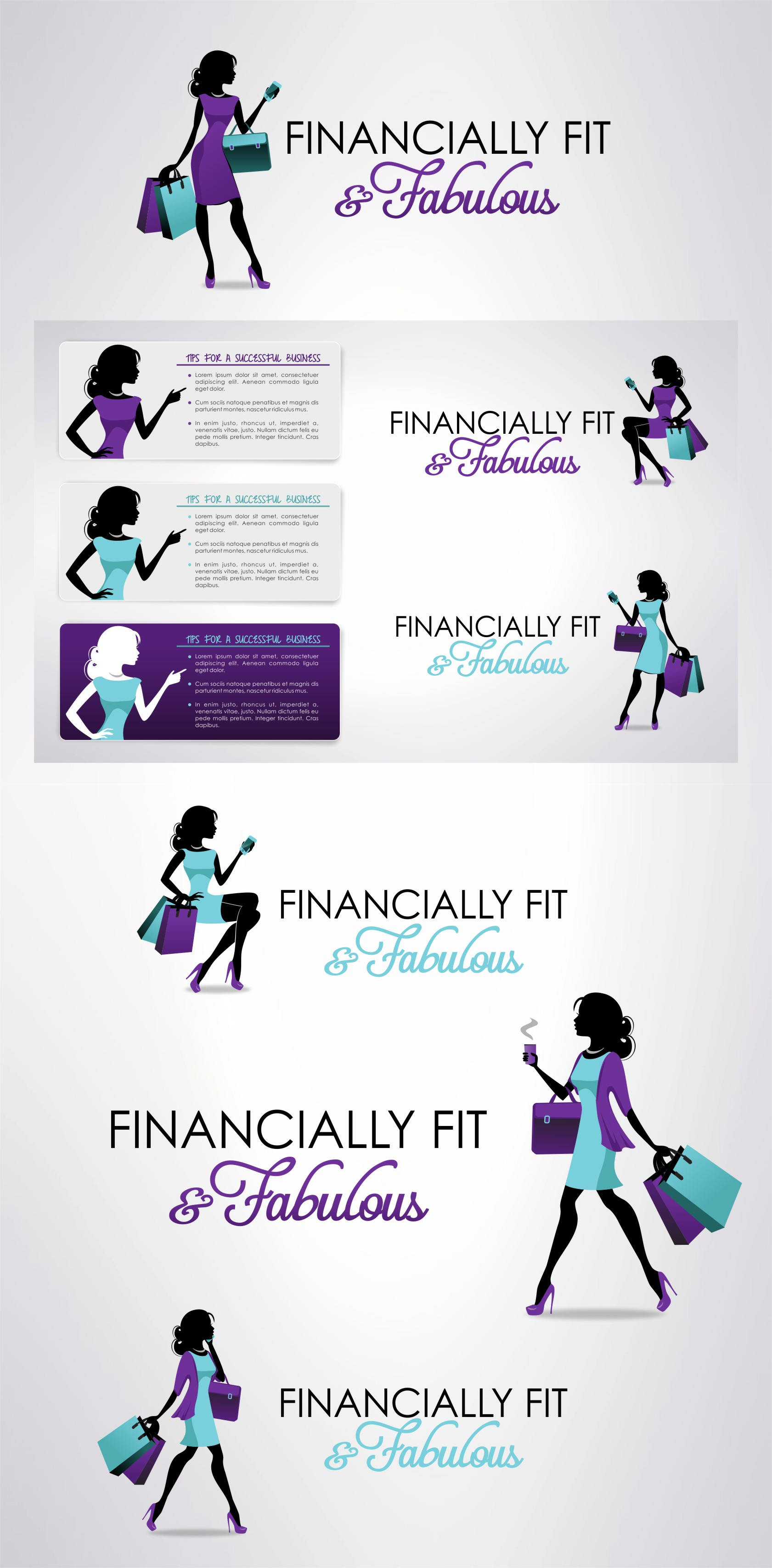 Create a logo with a touch of pizzazz for Financially Fit & Fabulous