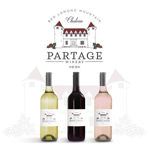 Logo design for winery