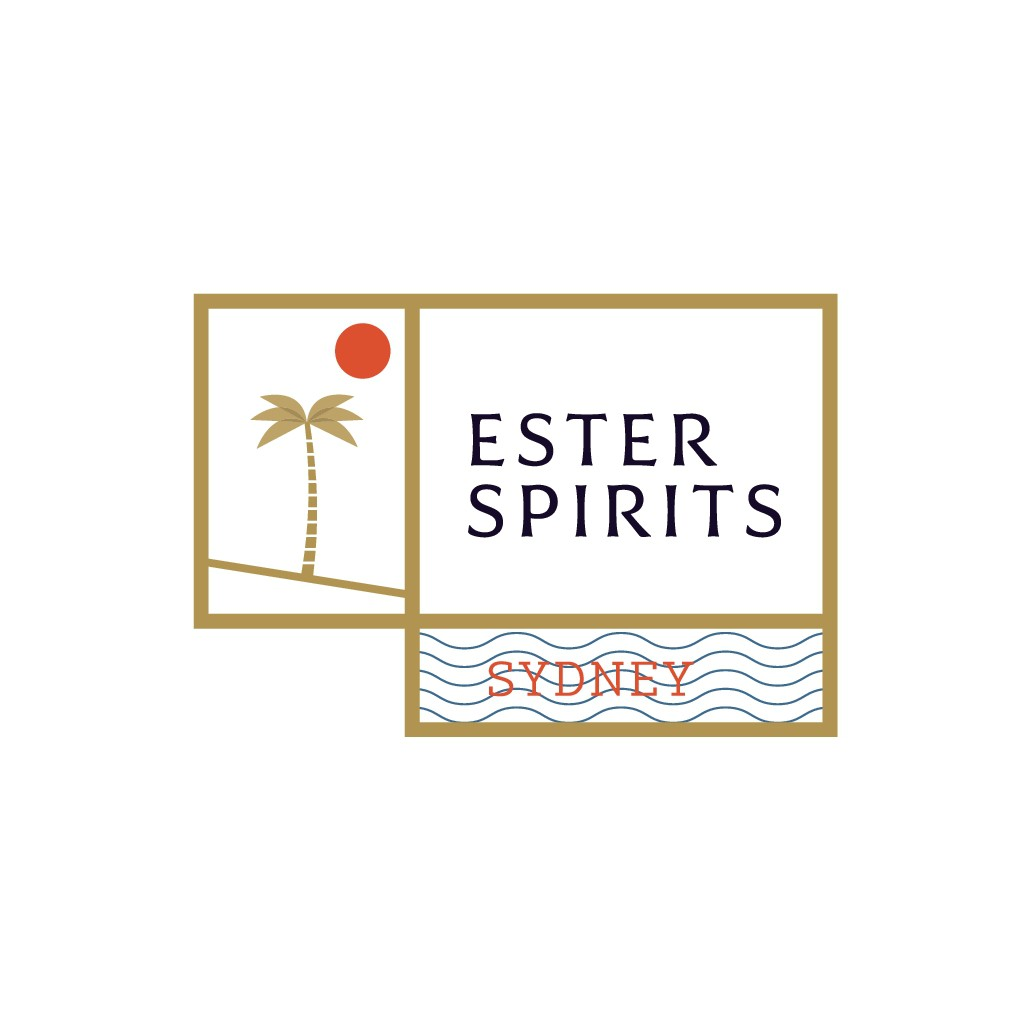 New Australian Craft Distilling Logo and Label for booze company Ester Distilling