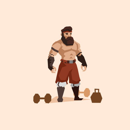 Character design for fitness app
