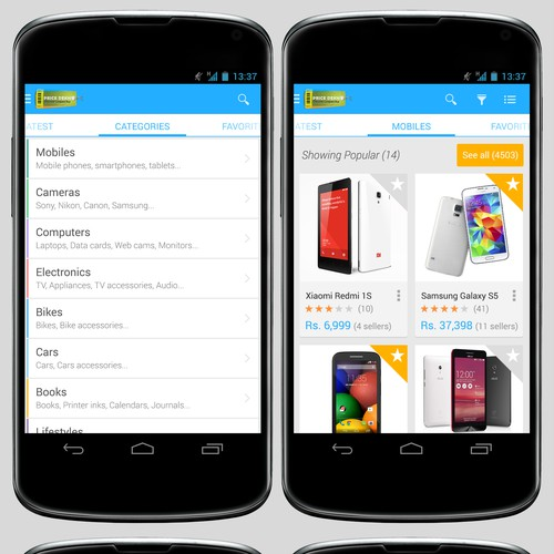 Design AWESOME app for price comparison/shopping