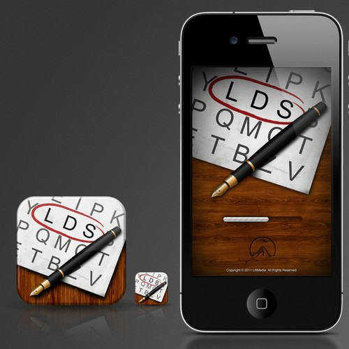 Design a word search iPhone app for Lift Media