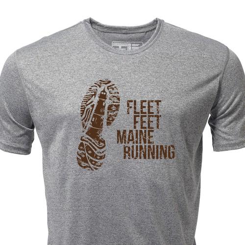 Maine Themed Running Shirt Graphics