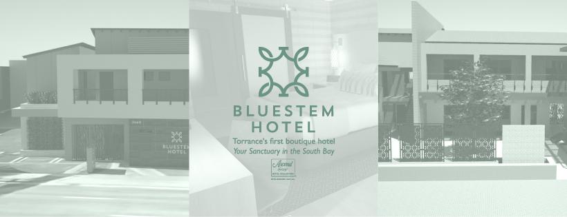 Bluestem Hotel logotype and stationery design