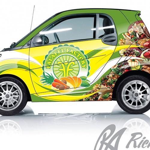 Falafel Factory Car Wrap