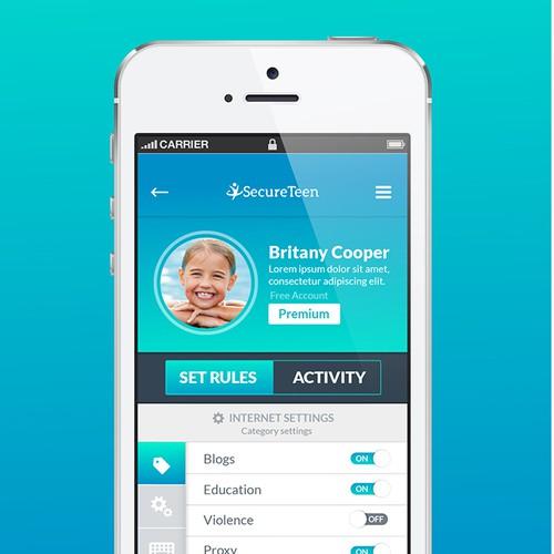 Secure Teen App Design