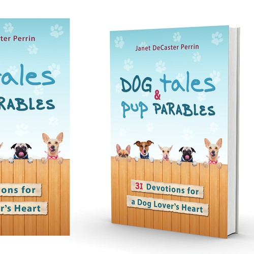 Book cover design - playful and sweet