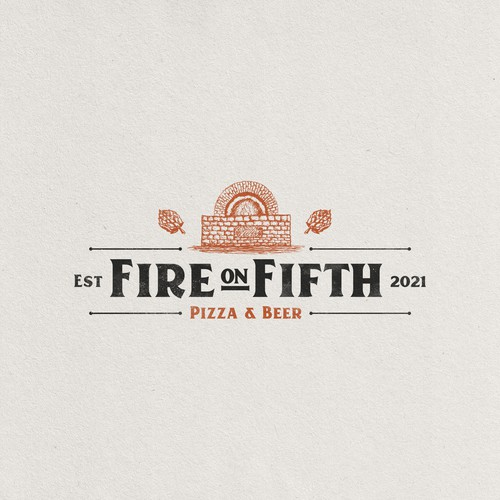 Logo for a bar specialized in oven pizza and craft beer