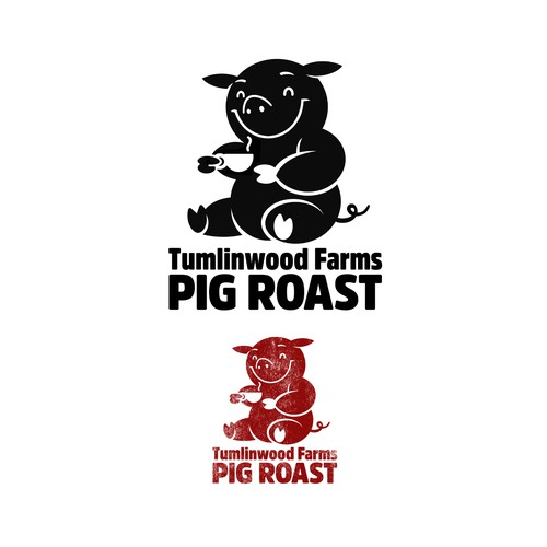 Tumlinwood Farms. Pig Roast Logo