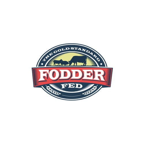 Vintage style logo concept for Fodder Fed