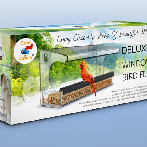 Window Bird Feeder packaging