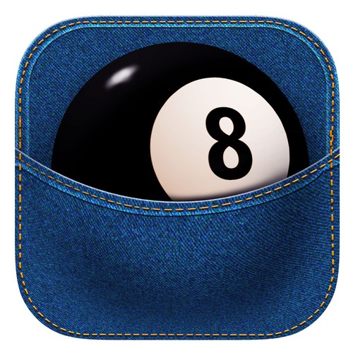 pocket billiard icon