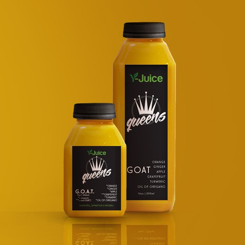Pressed juice labels and 3D