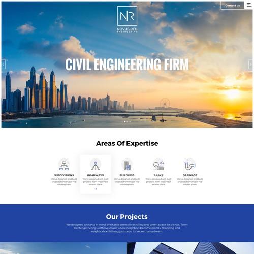 Elegant web design for real estate