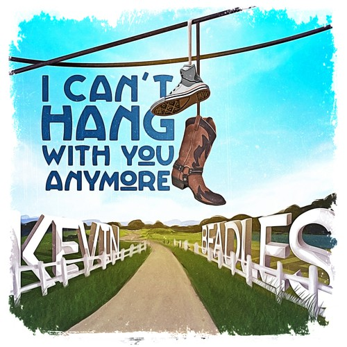 Digital single cover for an Americana/Alt Country singer, Kevin Beadles