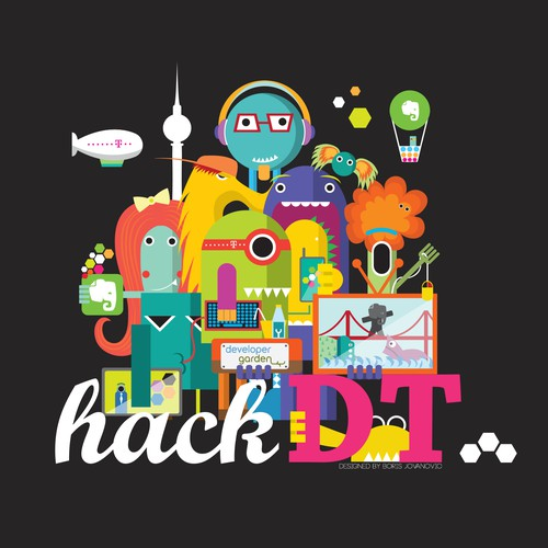 T-Shirt for Berlin based Hackathon (www.HackDT.com)