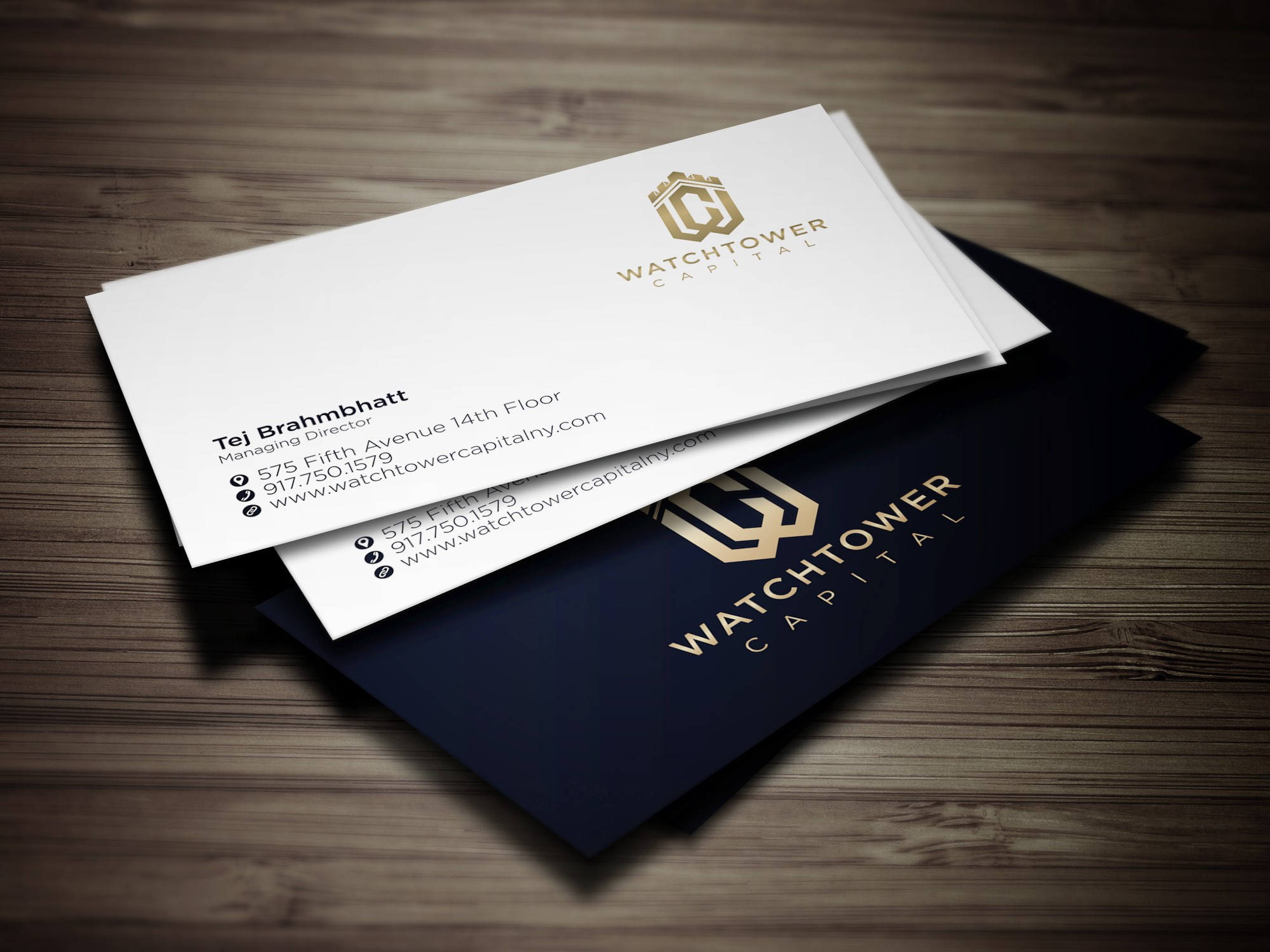Create a savvy, sophisticated logo for Watchtower Capital (finance consulting firm in midtown NYC)