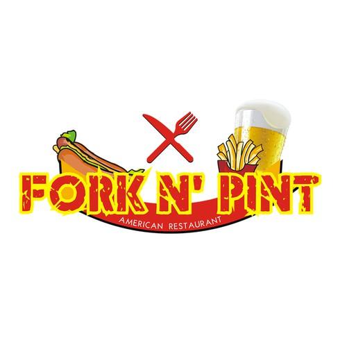Fork N' Pint Logo Design