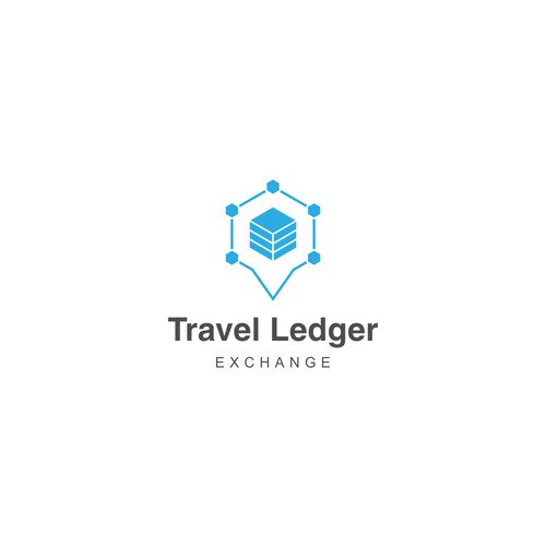 Iconic logo for tech company named Travel Ledger