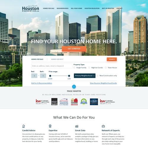 Luxury Real Estate Website Design for Houston Properties.
