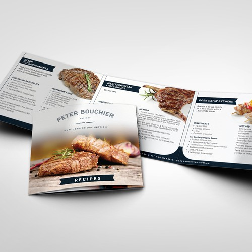 recipe brochure for Peter Bouchier - Butchers of Distinction