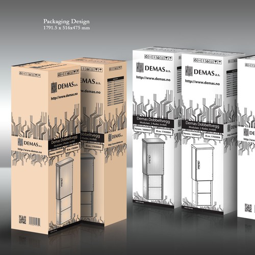 """Interesting black and white packaging design for a """"boring"""" product"""