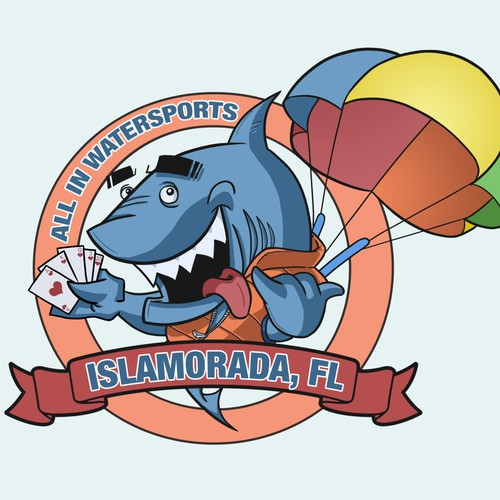 Shark watersports mascot
