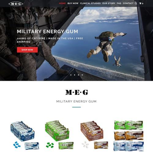 eCommerce Website for Energy Gum Brand