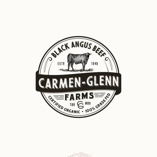 Logo for organic Black Angus Beef farm