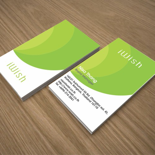 "Logo and business card design for ""i wish"""
