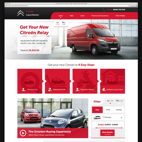 Design the webpage www.CitroenOnline.com