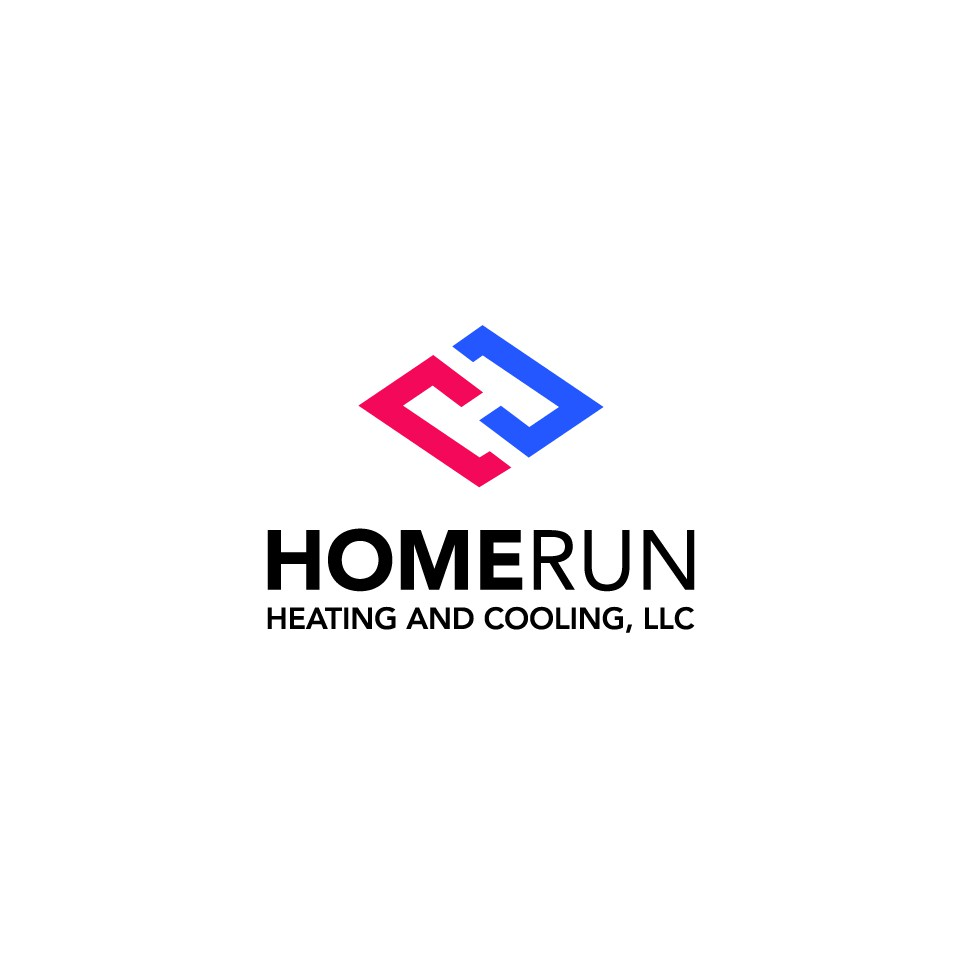 Design a baseball oriented logo for Homerun Heating and Cooling, LLC