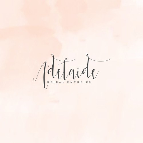 Feminine and delicate logo design for a bridal emporium